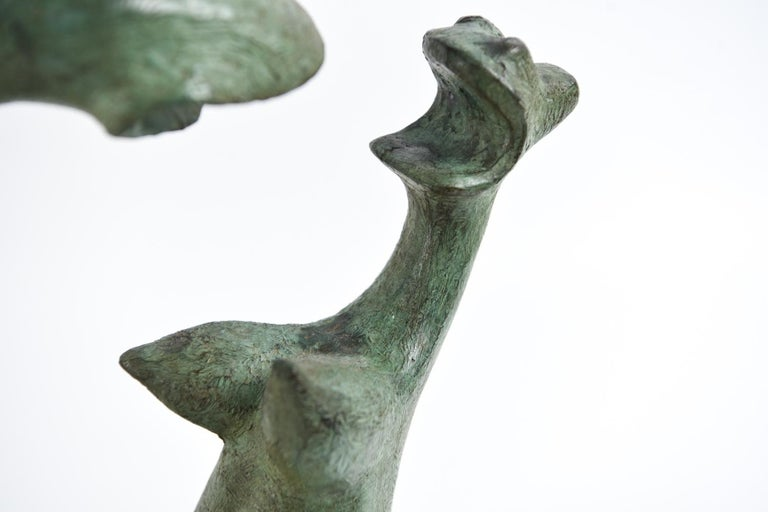 Expressionist Augusto Ortega Escobedo Bronze Sculpture For Sale