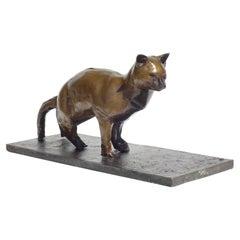 Augusto Perez Cat Bronze Sculpture