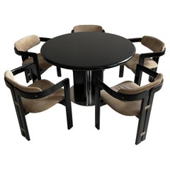 Augusto Savini Dining Room Set of Five 'Pamplona' Dining Chairs Dining Table