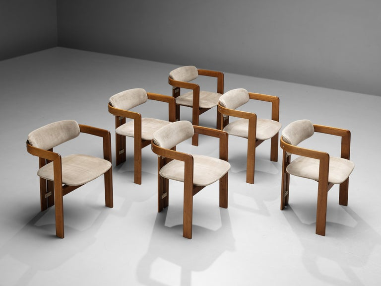 Italian Augusto Savini for Pozzi Set of Six 'Pamplona' Dining Chairs For Sale