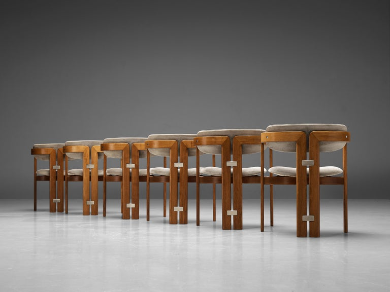 Augusto Savini for Pozzi Set of Six 'Pamplona' Dining Chairs In Good Condition For Sale In Waalwijk, NL