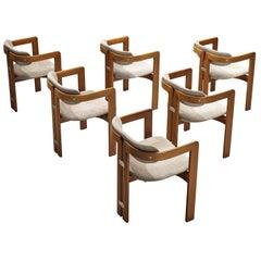 Augusto Savini for Pozzi Set of Six 'Pamplona' Dining Chairs