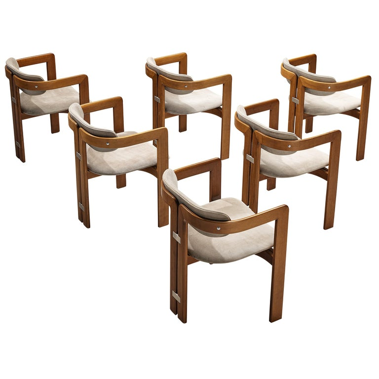 Augusto Savini for Pozzi Set of Six 'Pamplona' Dining Chairs For Sale