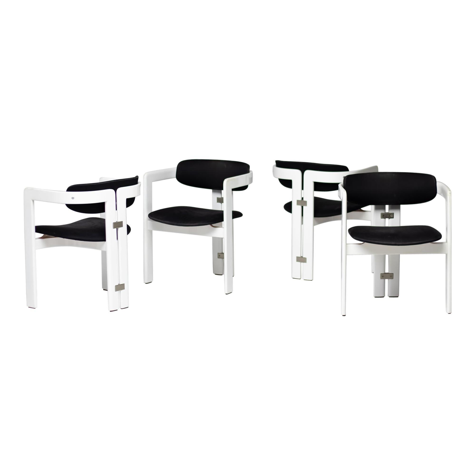 Augusto Savini 'Pamplona' Dining Chairs by Pozzi, Italy, 1965