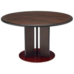 Augusto Savini Round Dining Table, 1970s