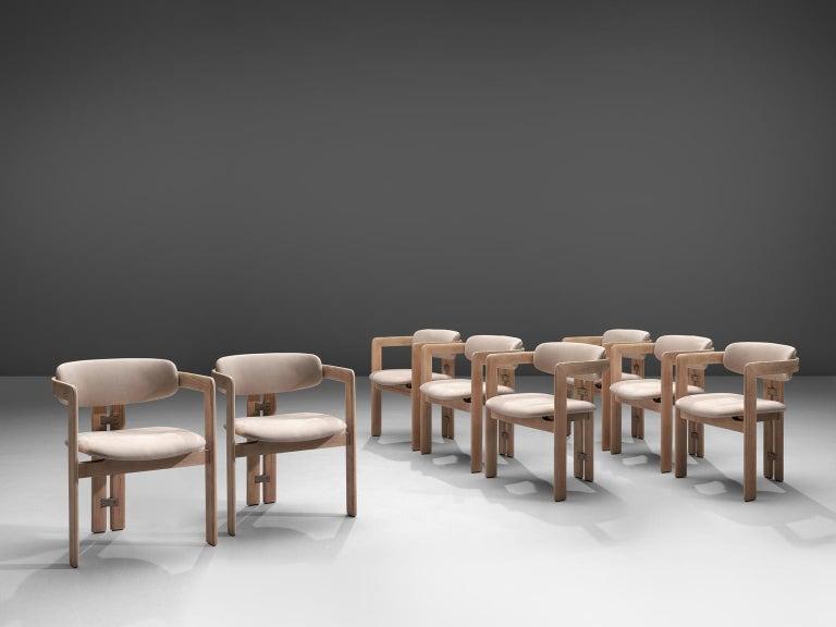 Mid-Century Modern Augusto Savini Set of Eight Customized 'Pamplona' Chairs For Sale