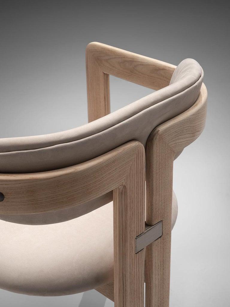 Mid-20th Century Augusto Savini Set of Eight Customized 'Pamplona' Chairs For Sale