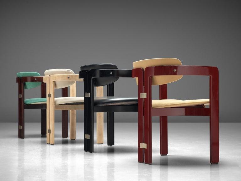 Augusto Savini Set of Eight Customized 'Pamplona' Chairs For Sale 1