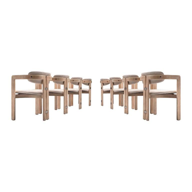 Augusto Savini Set of Eight Customized 'Pamplona' Chairs For Sale