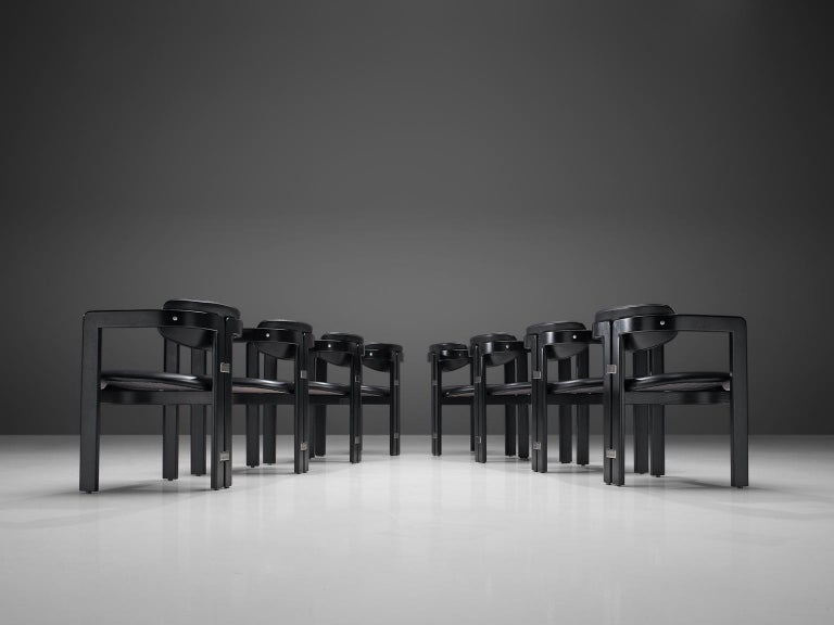 Mid-Century Modern Augusto Savini Set of Eight 'Pamplona' Chairs For Sale