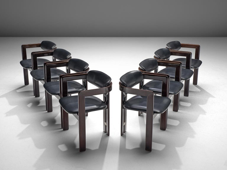 Metal Augusto Savini Set of Eight 'Pamplona' Chairs For Sale