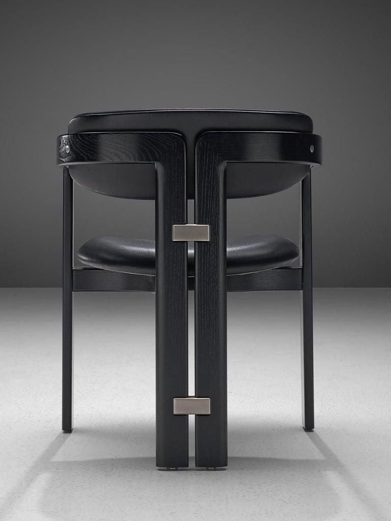 Metal Augusto Savini Set of Eight 'Pamplona' Chairs For Sale