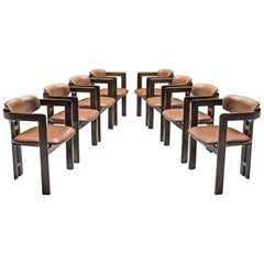 Augusto Savini Set of Eight Reupholstered 'Pamplona' Chairs
