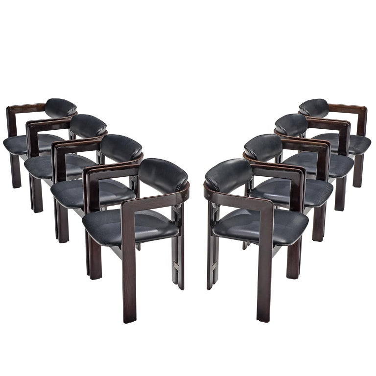 Augusto Savini Set of Eight 'Pamplona' Chairs For Sale