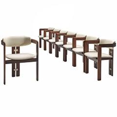 Augusto Savini Set of Eight Rosewood 'Pamplona' Chairs for Jose