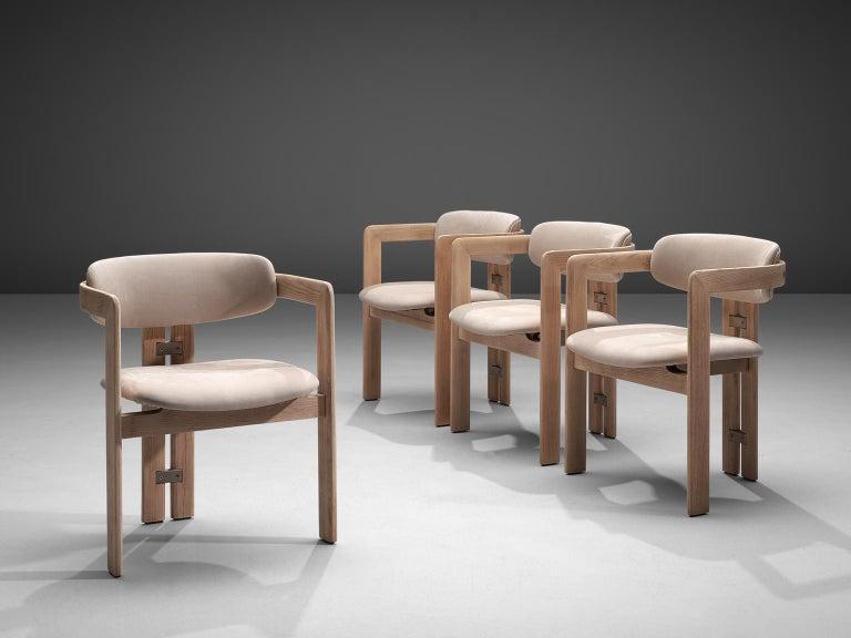Mid-Century Modern Augusto Savini Set of Four Customized 'Pamplona' Chairs For Sale