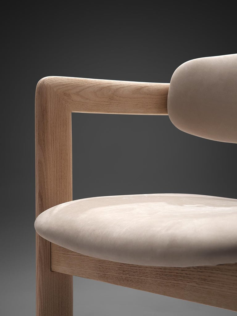 Suede Augusto Savini Set of Four Customized 'Pamplona' Chairs For Sale