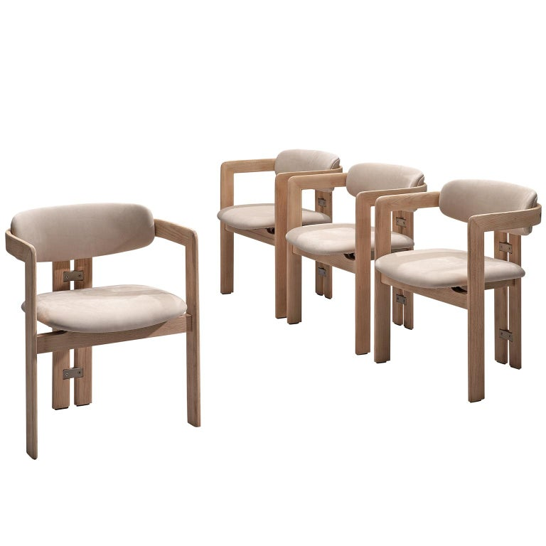 Augusto Savini Set of Four Customized 'Pamplona' Chairs For Sale