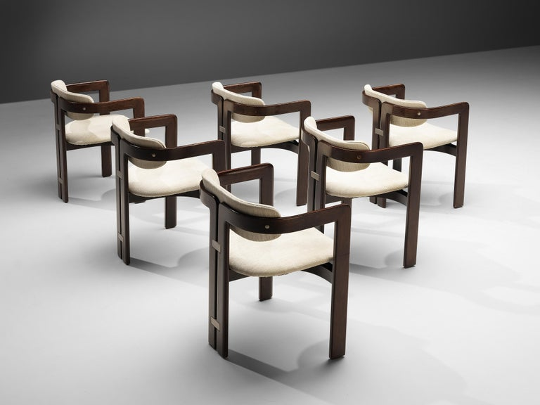 Italian Augusto Savini Set of Six 'Pamplona' Dining Chairs For Sale
