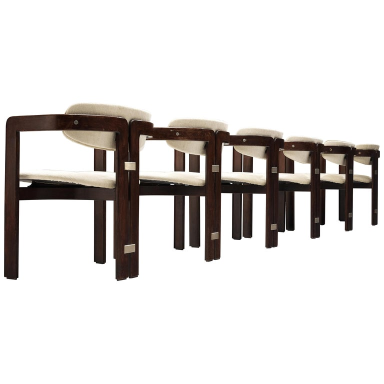Augusto Savini Set of Six 'Pamplona' Dining Chairs For Sale