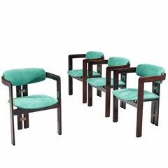 Augusto Savini Turquoise Suede 'Pamplona' Chairs