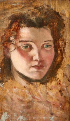 Head of a Woman - 20th Century Oil, Portrait of a Woman by Augustus Edwin John