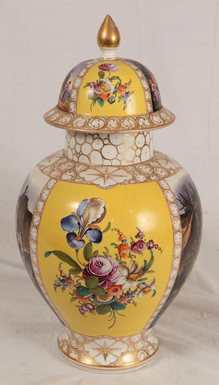 European Augustus Rex Meissen Porcelain Baluster Vase For Sale