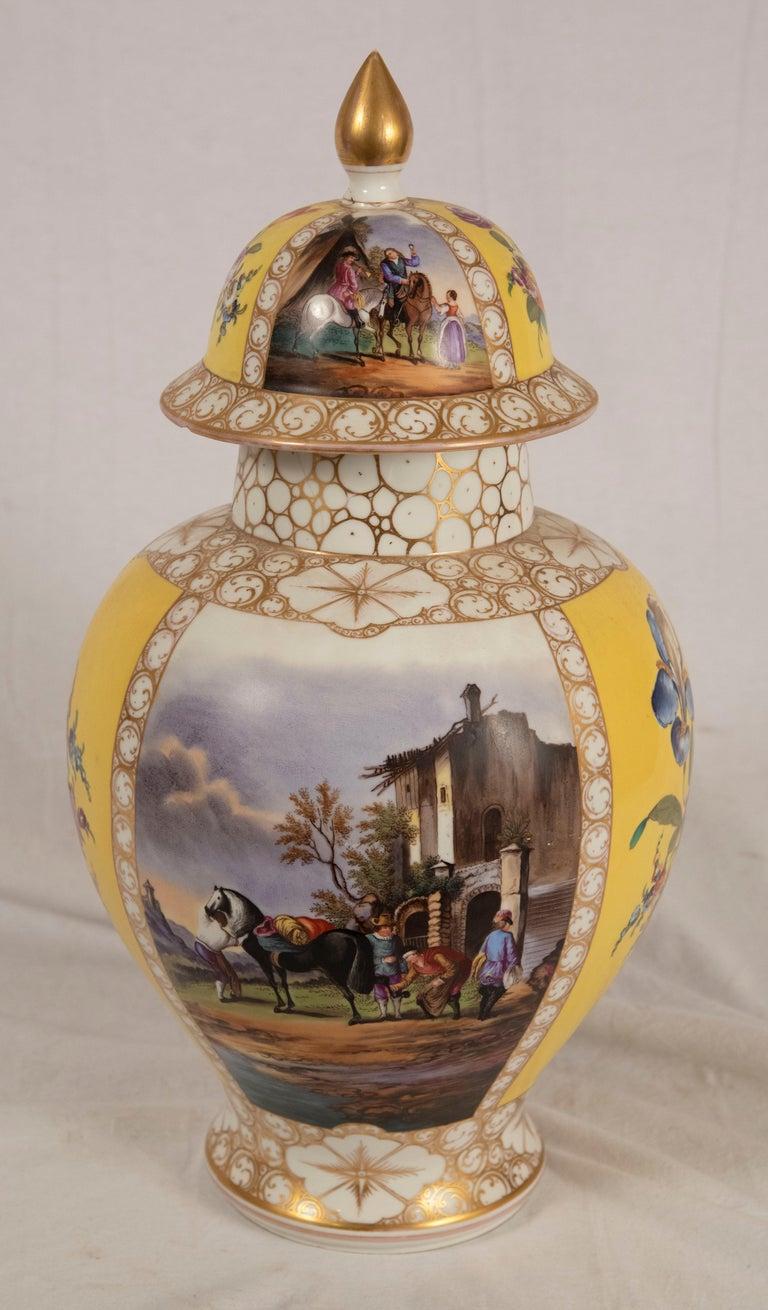 Augustus Rex Meissen Porcelain Baluster Vase In Fair Condition For Sale In Salt Lake City, UT