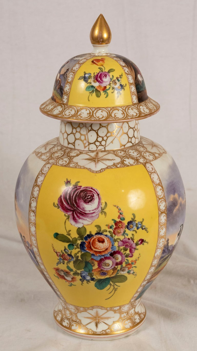 19th Century Augustus Rex Meissen Porcelain Baluster Vase For Sale