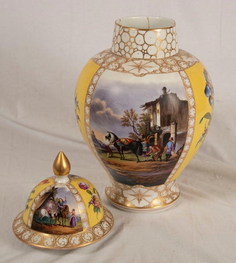 Augustus Rex Meissen Porcelain Baluster Vase For Sale 1