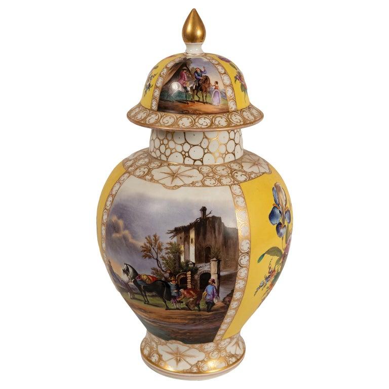 Augustus Rex Meissen Porcelain Baluster Vase For Sale