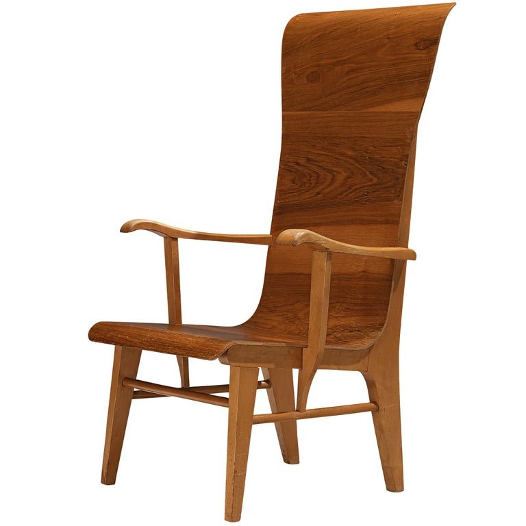 Auke Komter Very Rare Armchair for Metz & Co For Sale