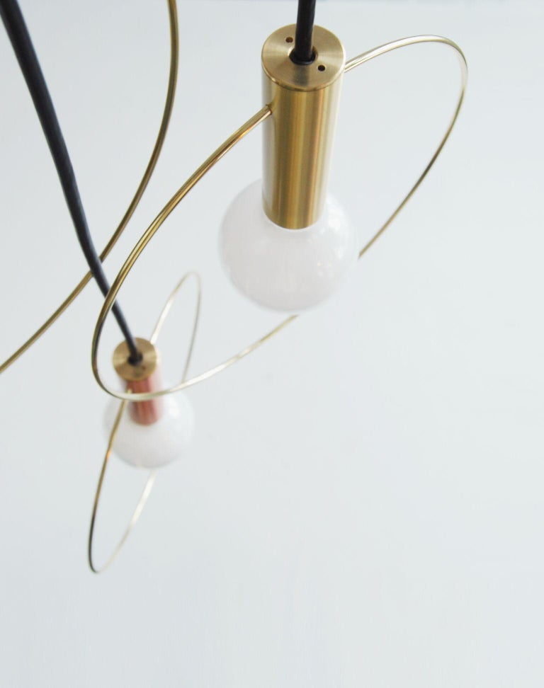 Aura Pendant Light Three-Piece Radial Cluster In New Condition For Sale In Brooklyn, NY