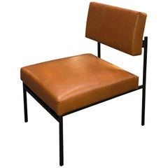 Aurea Brown Leather Armchair by CtrlZak and Davide Barzaghi