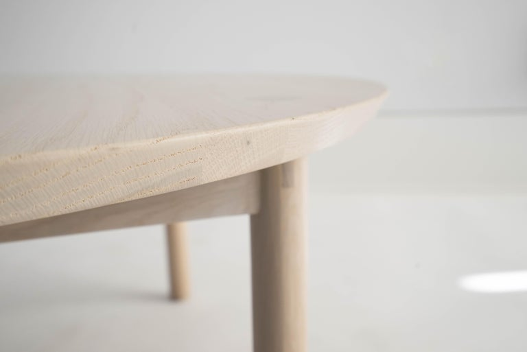 Chinese Aurea Coffee Table by Sun at Six, Nude, Minimalist / Midcentury Table in Wood For Sale