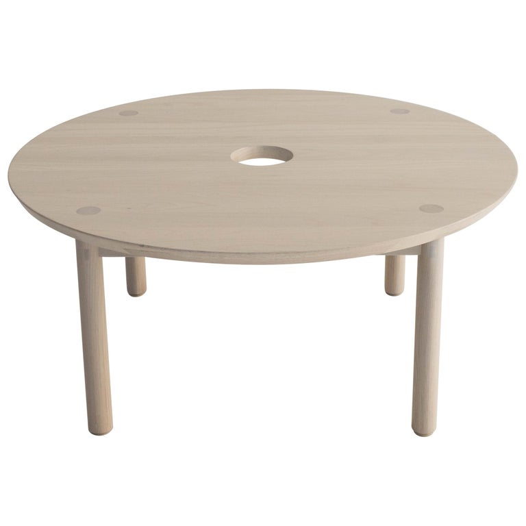Aurea Coffee Table by Sun at Six, Nude, Minimalist / Midcentury Table in Wood For Sale