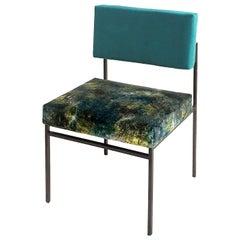Aurea Green Velvet Chair by CtrlZak and Davide Barzaghi