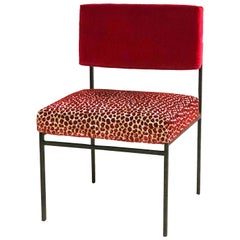 Aurea Red Velvet Chair by CtrlZak and Davide Barzaghi