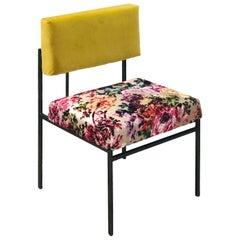 Aurea Yellow Velvet Chair by CtrlZak and Davide Barzaghi