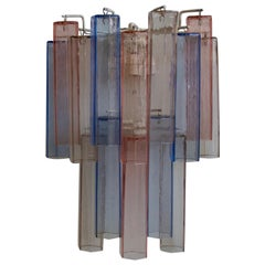 Aureliano Toso Murano Glass Wall Applique in Red and Blue