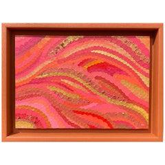 Aurélie Wozniak Red Composition Made in Paper Mosaic