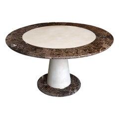 Aurelio Emperador Marble Dining Table