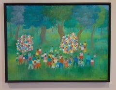 Acrylic on Canvas-- Birthday Party in Chapultepec Park