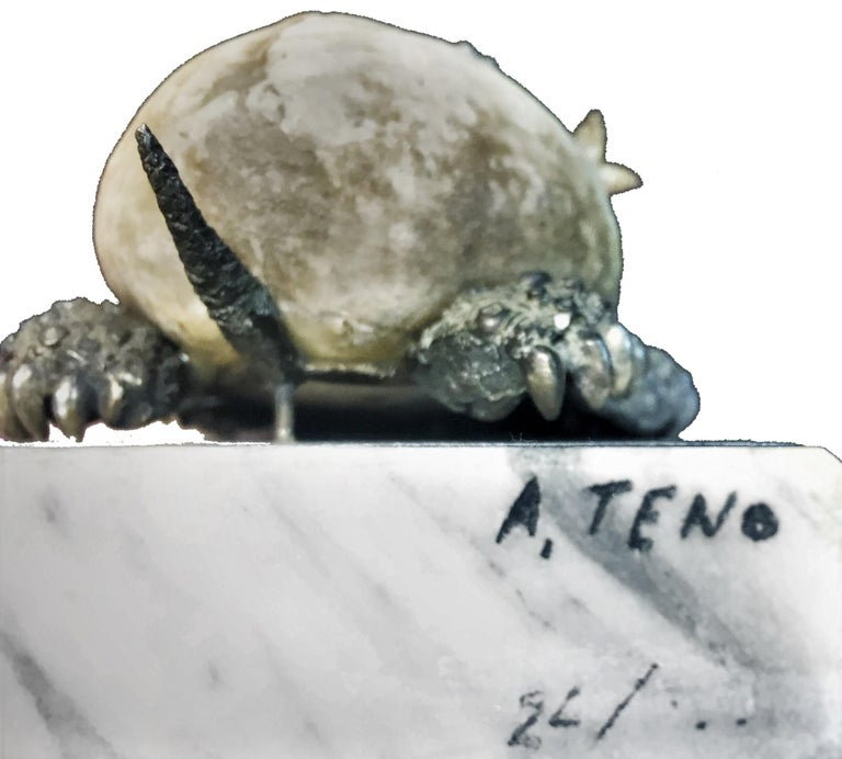 Aurelio Teno, a Group of Four Silver Sea Shell and Coral Animal Sculpture, 1950s For Sale 4