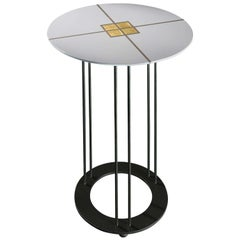 Aureola D45 C White Side Table