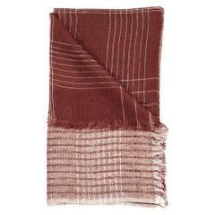 AURO CINNABAR Soft Linen Handwoven Scarf