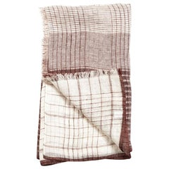 AURO WHITE Soft Linen Handwoven Scarf
