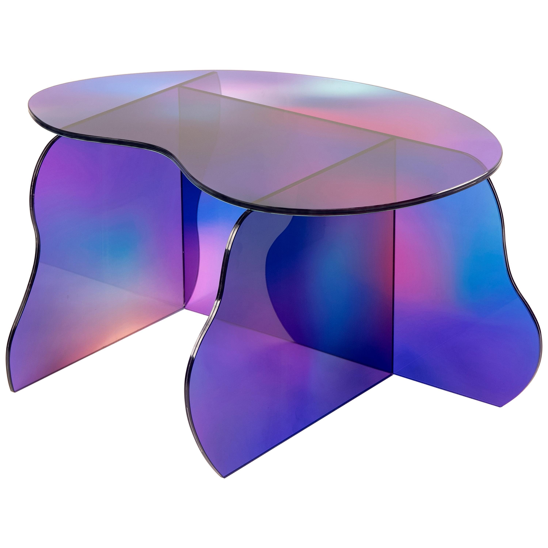Aurora Dichroic Glass Table Sculpted by Studio-Chacha