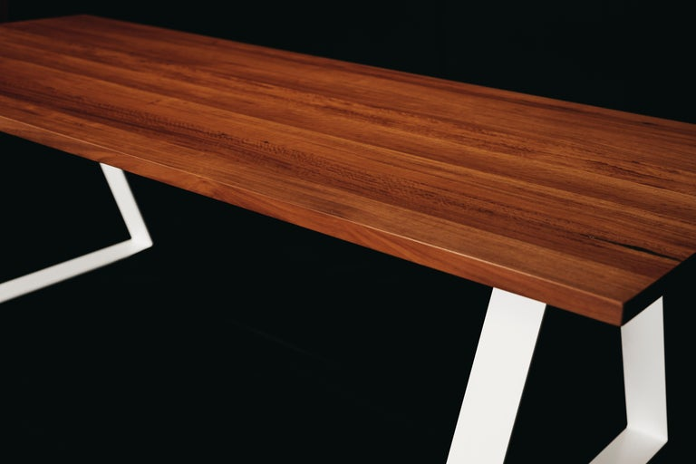 Modern Aurora Dining Table, Handcrafted in Murray River Red Gum Hardwood For Sale