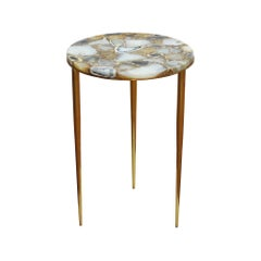 Aurora Table in Natural and Gold Steel by CuratedKravet